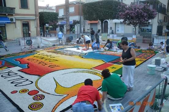 """Giulianova, torna l'arte dell'Infiorata per celebrare l'unione tra Giulianova e Senegal con il progetto """"Io faccio la mia parte"""""""
