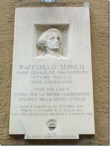 """Ricordato a Bolzano l'eroe garibaldino  Raffaello Sernesi"""
