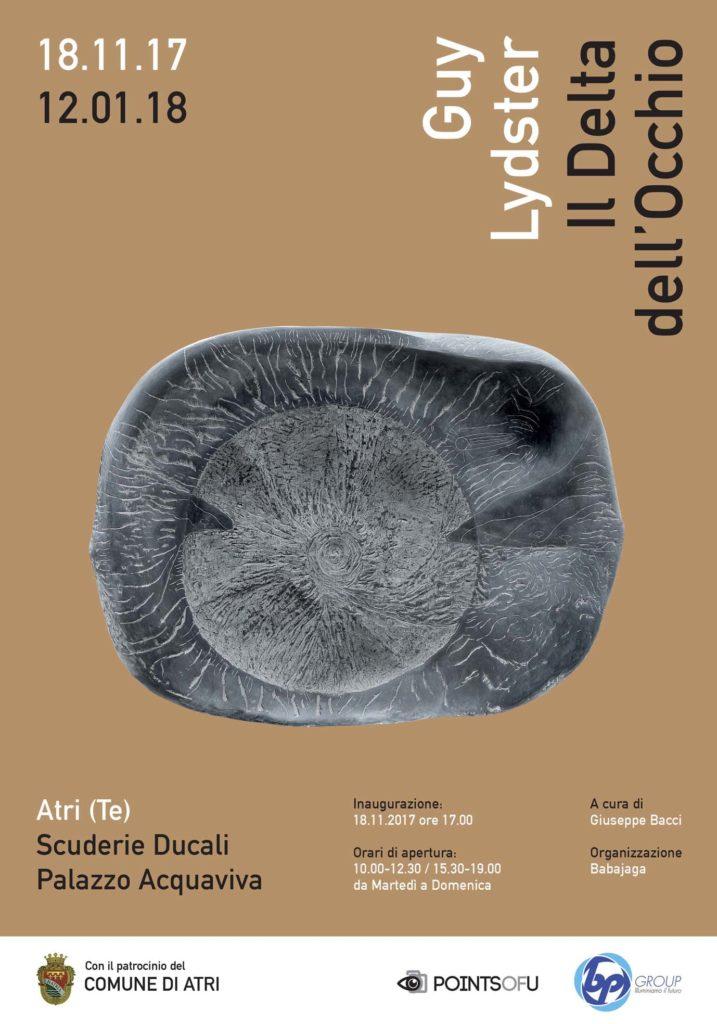 Atri. Inaugurazione della mostra,  Guy LYDSTER Il Delta dell'Occhio, a cura di  Giuseppe BACCI