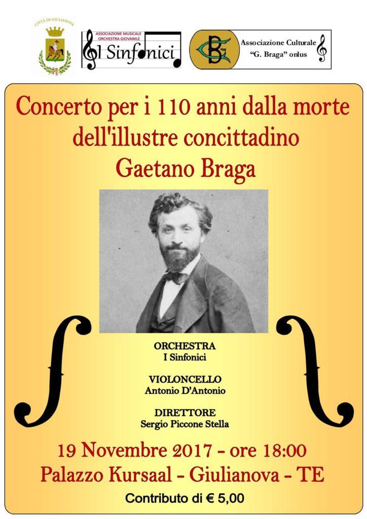 Giulianova. Concerto per i 110 anni dalla morte di Gaetano Braga.