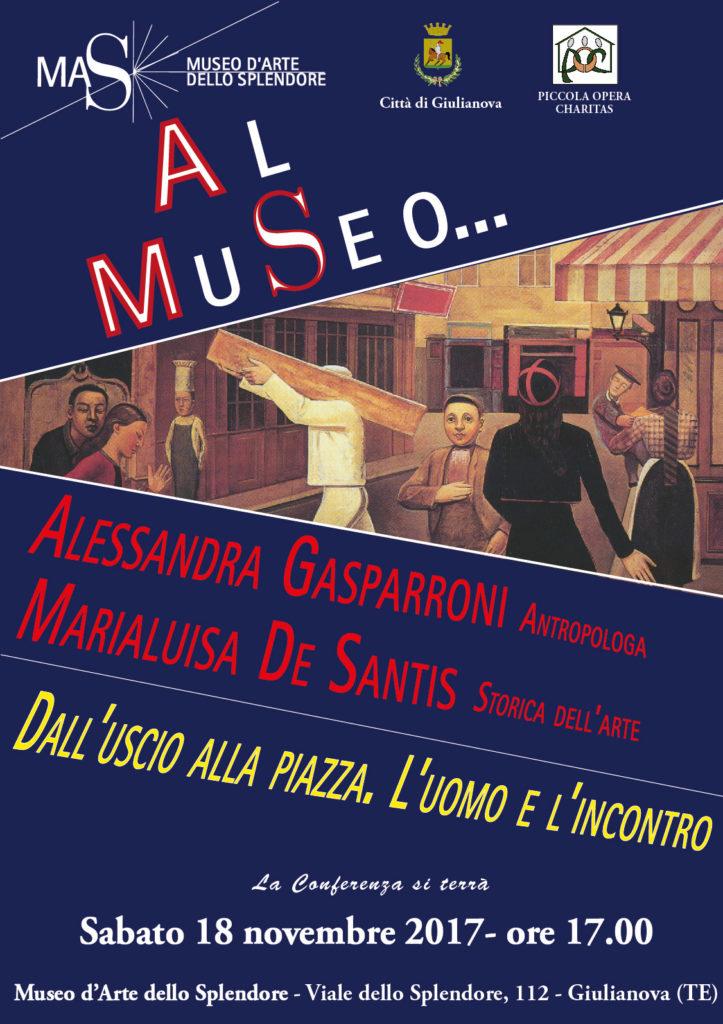 Museo dello Splendore – 18 novembre ore 17 – Dall'uscio alla piazza – Gasparroni – De Santis