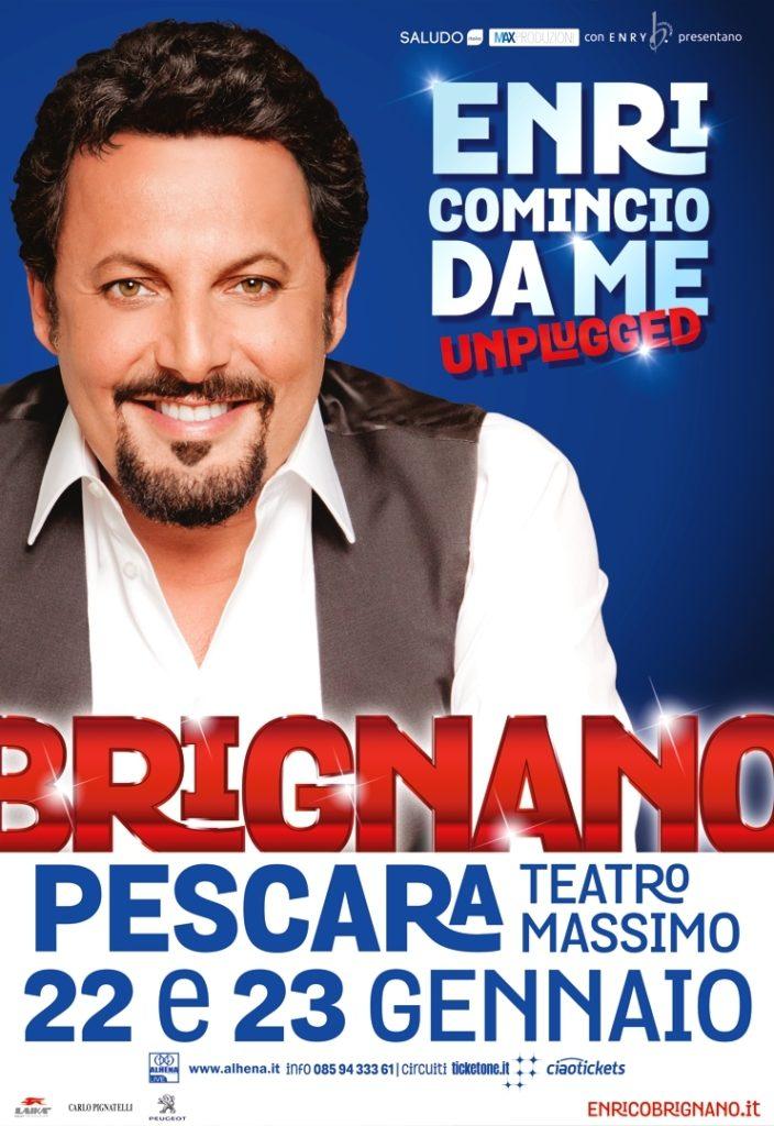 Pescara. Il 22 e 23 gennaio 2018 ENRICOMINCIO DA ME  Di Enrico Brignano