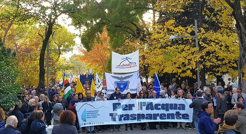 Grandissimo successo della Manifestazione per l'Acqua Trasparente