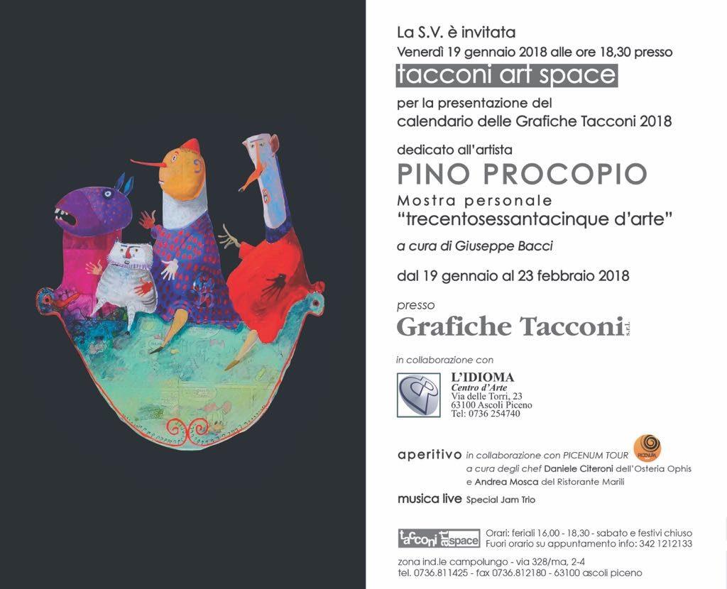 Ascoli Piceno. PINO PROCOPIOTrecentosessantacinque d'arte  a cura diGiuseppe Bacci presso Tacconi Art Space