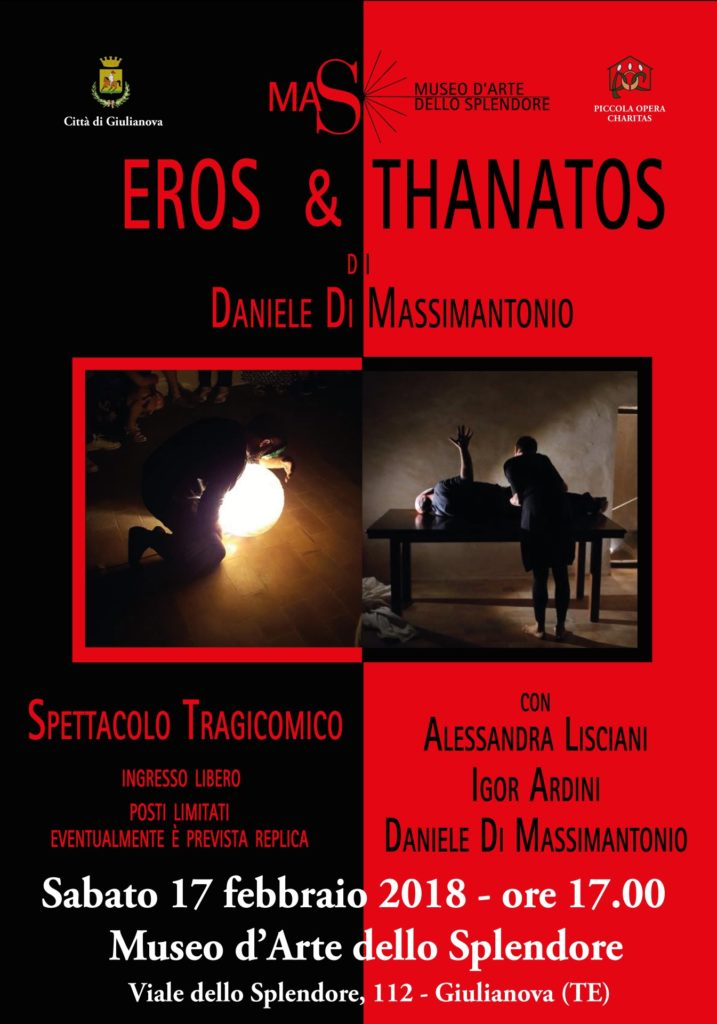 Giulianova. MAS-Evento: Eros & Thanatos (spettacolo teatrale)  di Daniele Di Massimantonio