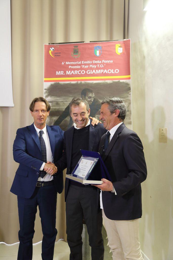 Giulianova. Trofeo Emilio Della Penna: bagno di folla per l'allenatore della SampdoriaMarcoGiampaolo