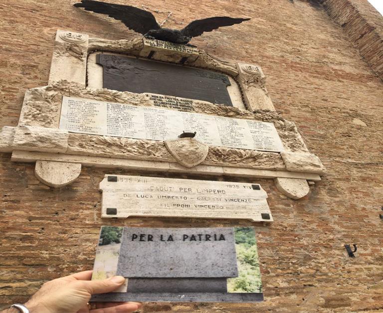 """Giulianova. Il 7 aprile al Centro socioculturale dell'Annunziata presentazione del libro """"Per la Patria. Piccolo lapidario della Grande guerra""""."""
