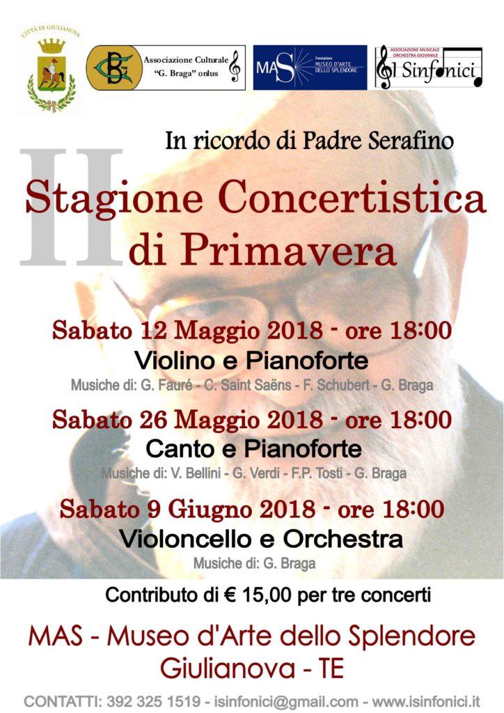 Giulianova. Giovanni Di Leonardo (Ass.G.Braga): concerti di primavera e sostegno economico