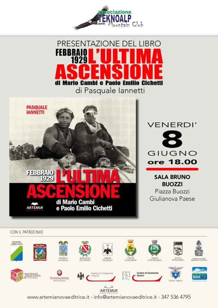 Giulianova. Febbraio 1929 – L'Ultima ascensione di Mario Cambi e Paolo Emilio Cichetti. Presentazione venerdì 9 giugno 2018 Sala Buozzi