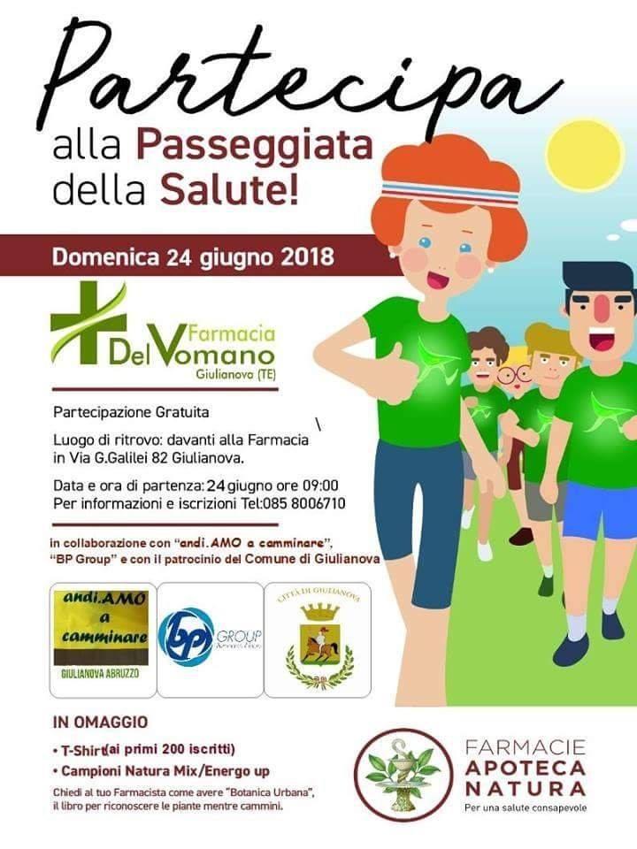"""Giulianova – Il 24 giugno la prima edizione della """"passeggiata della salute"""""""