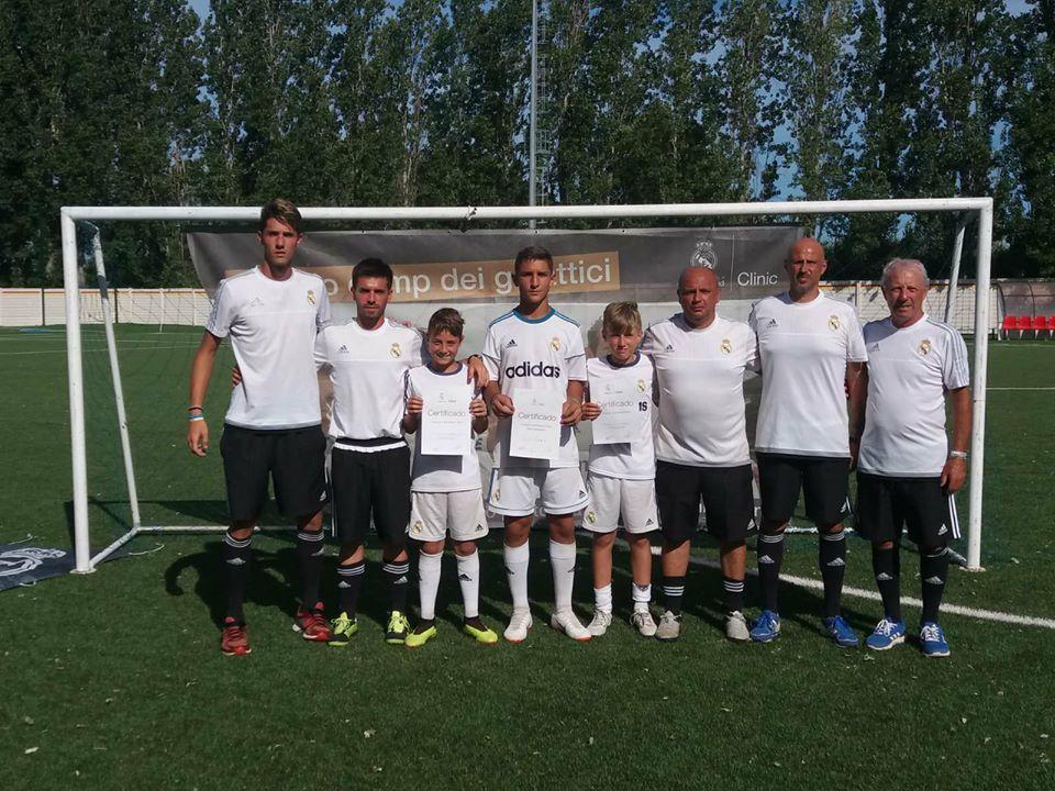 Giulianova. Due baby calciatori teramani alla corte dei Galattici. Concluso il Clinic Camp 2018 del Real Madrid