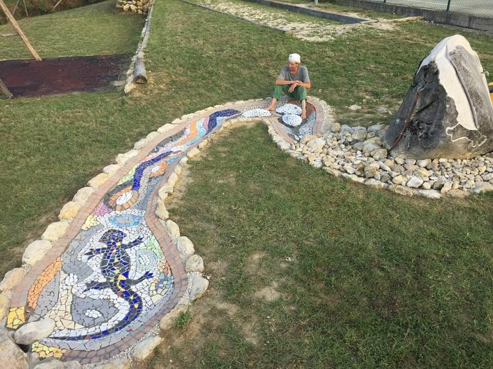 San Pietro di Isola del Gran Sasso. Sarà presentato al pubblico il mosaico SOGNO DI UNA SALAMANDRA