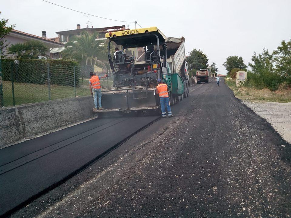 Mosciano Sant'Angelo. Nuova pavimentazione per la SP 10 – Z.na C.da Maggi