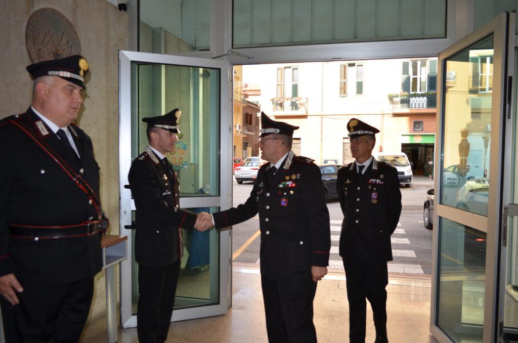 Teramo. Il nuovo Comandante della Legione Carabinieri Abruzzo e Molise in visita al Comando Provinciale Carabinieri di Teramo.