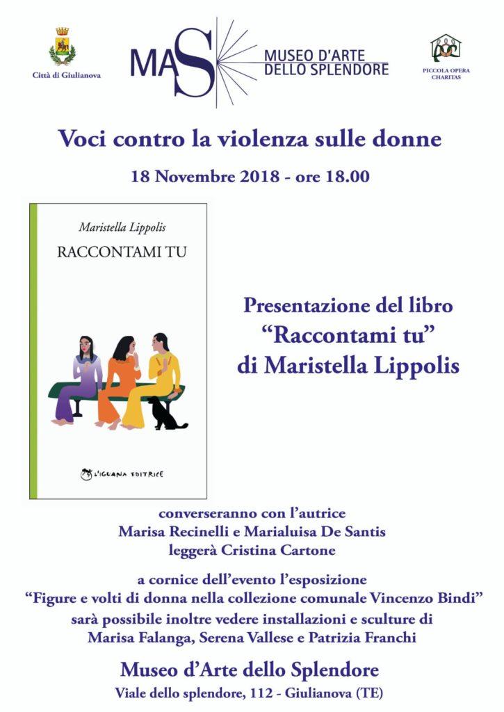 """Giulianova. Presentazione del libro """"Raccontami di te"""" di Maristella Lippolis, edito da Iguana."""