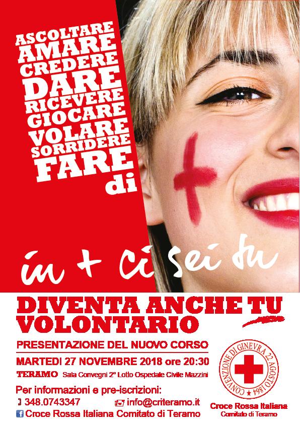 Corso base per aspiranti volontari della Croce Rossa Italiana  Aperte le iscrizioni nella sede di TERAMO