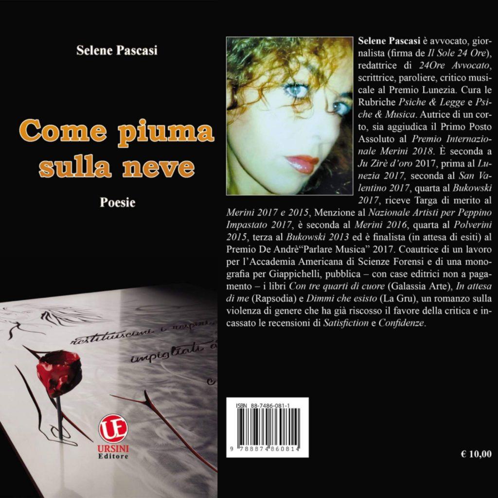 """L'Aquila. Selene Pascasi torna in libreria con la silloge """"Come piuma sulla neve"""" pubblicata dall'Accademia dei Bronzi (Ursini Editore)"""