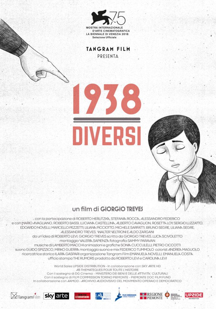 """Teramo. IL REGISTAGIORGIO TREVESOSPITE DIALTERNATIVA CINEMA con il documentario """"1938 – Diversi"""""""