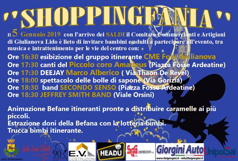 "Giulianova lido. Arriva ""Shoppingfania"", i saldi della Befana"