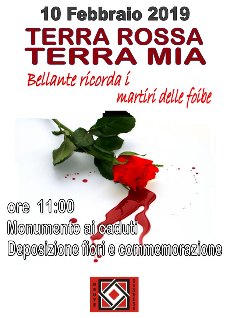 Bellante. L'Associazione culturale Nuove Sintesi ricorda i martiri delle Foibe domenica 10 febbraio