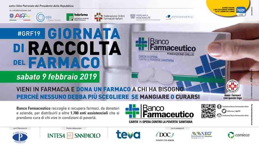 Teramo. Sabato 9 febbraio la Giornata di Raccolta Del Farmaco, Giulianova protagonista con 4 farmacie