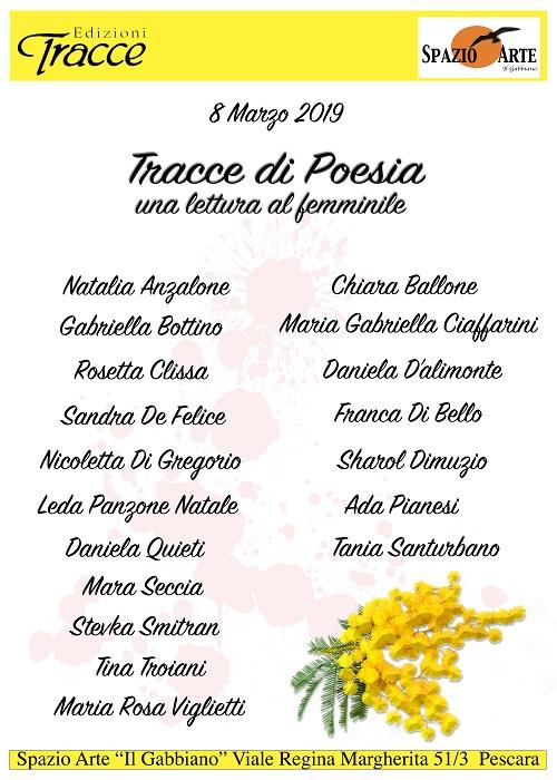 Pescara. Tracce di poesia: giorno 8 marzo una lettura al femminile