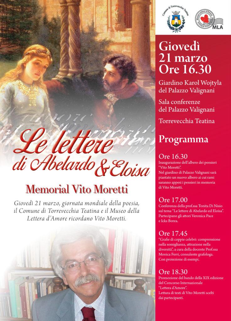 Torrevecchia Teatina. Evento in ricordo del prof. Vito Moretti.