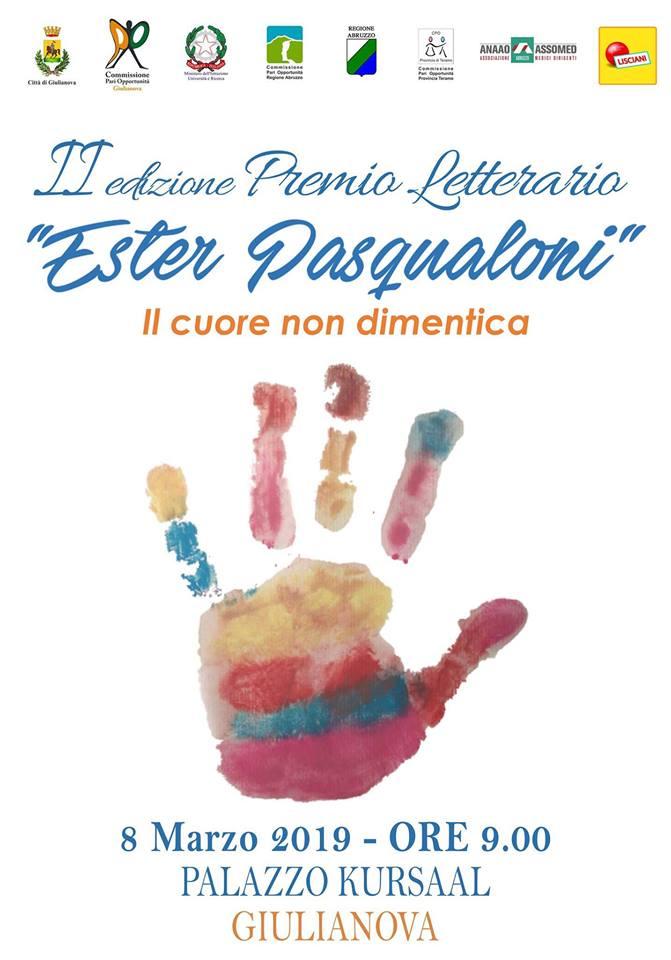 Venerdì 8 marzo premiazione della seconda edizione del concorso dedicato a Ester Pasqualoni