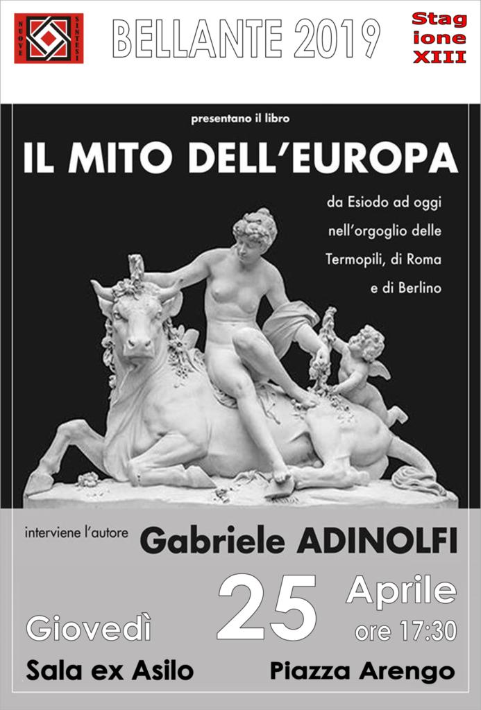 """Bellante. Presentazione del libro""""IL MITO DELL'EUROPA da Esiodo ad oggi nell'orgoglio delle Termopili, di Roma e di Berlino"""""""
