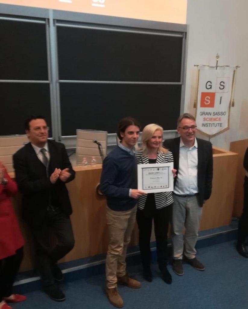 Giulianova. Liceo Curie: premiazione dell'alunno Francesco Massone Premio Asimov