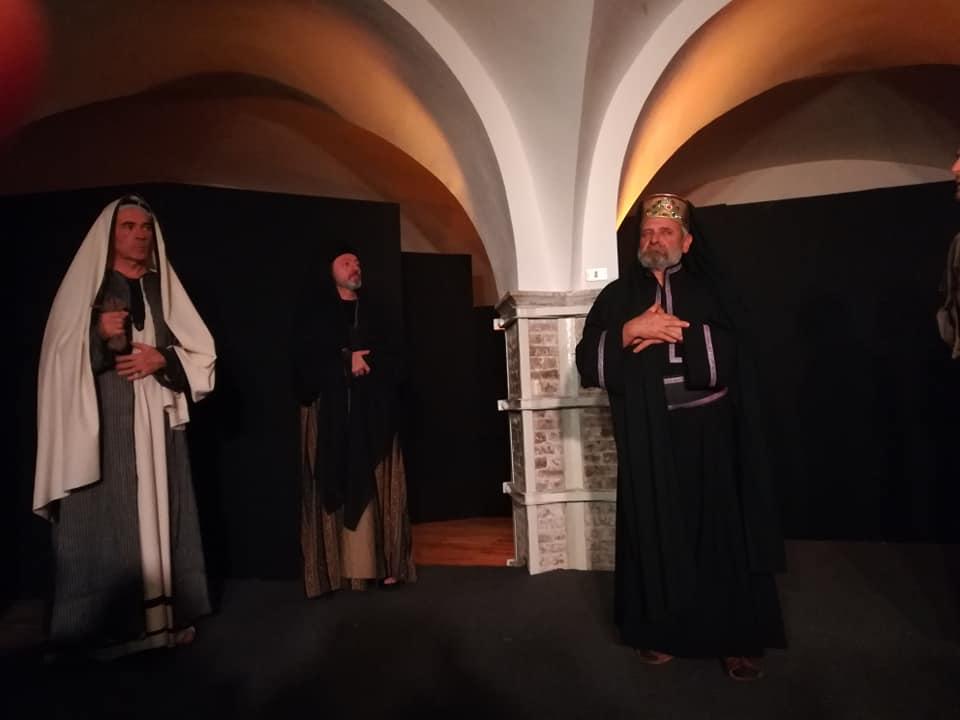 """Giulianova. Grande successo per la prima edizione de """"La passione di Cristo"""", svoltasi la domenica delle Palme nella cripta di San Flaviano"""