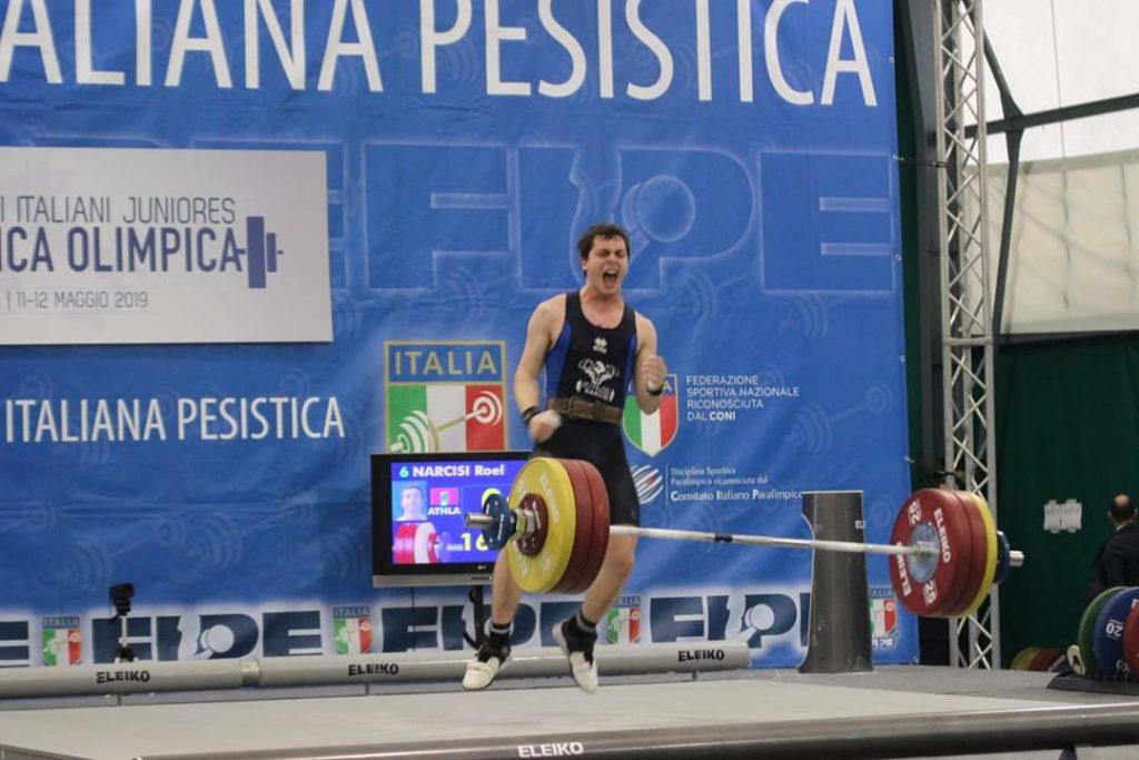 Il giuliese ROEL NARCISI Il nuovo Campione Italiano di Pesistica Olimpica 2019