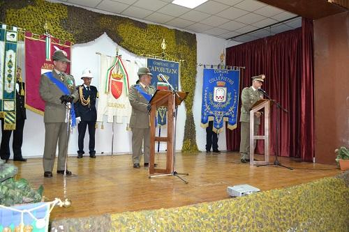 """L'Aquila. Cerimonia di avvicendamento al vertice del Comando Militare Esercito """"Abruzzo"""" tra il Generale di Brigata Giuseppe DI GIOVANNI e il Colonnello Marco IOVINELLI."""