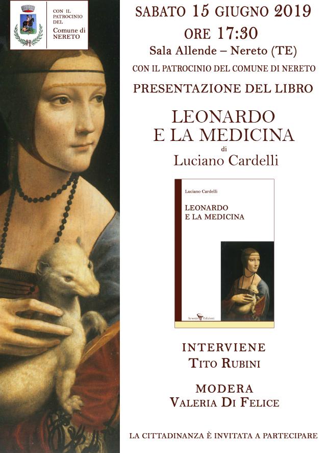 """Nereto. Presentazione del libro """"Leonardo e la medicina""""  di Luciano Cardelli (Arsenio Edizioni)"""