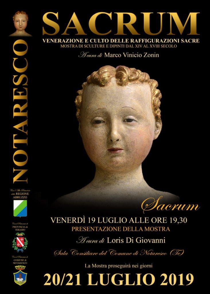 """Notaresco. Mostra """"Sacrum"""": venerazione e culto delle raffigurazioni sacre'. Venerdì 19 luglio ore 19.30"""