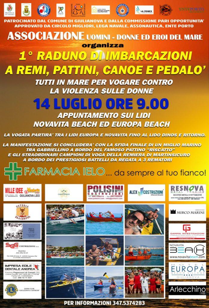 """Giulianova. Presentazione """"365 giorni 25 novembre. Tutti in mare per vogare contro la violenza sulle donne"""
