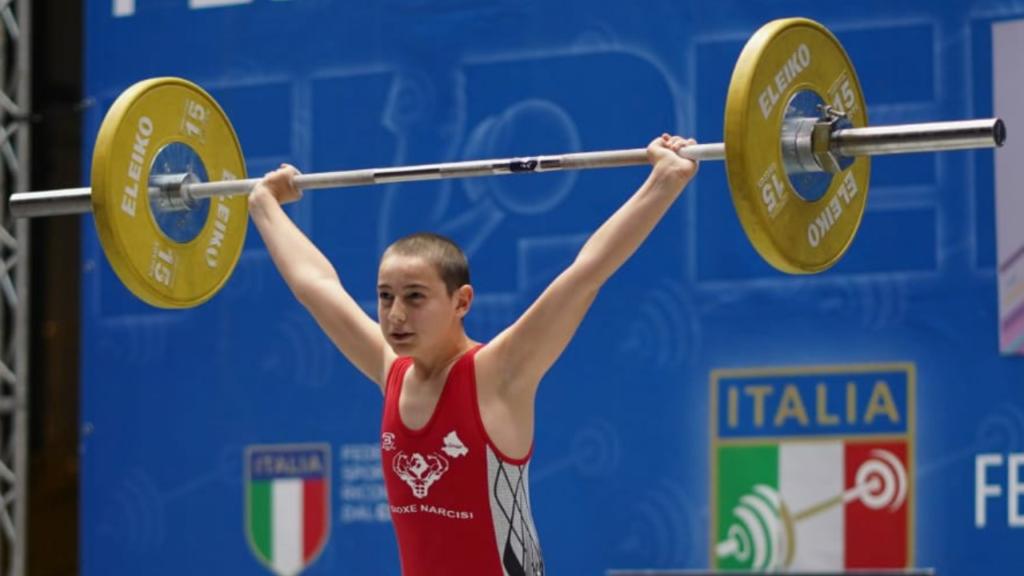 """Giulianova. Un """"Argento"""" per Gioxe Narcisi ai CAMPIONATI ITALIANI DI PESISITICA OLIMPICA DI PAVIA"""
