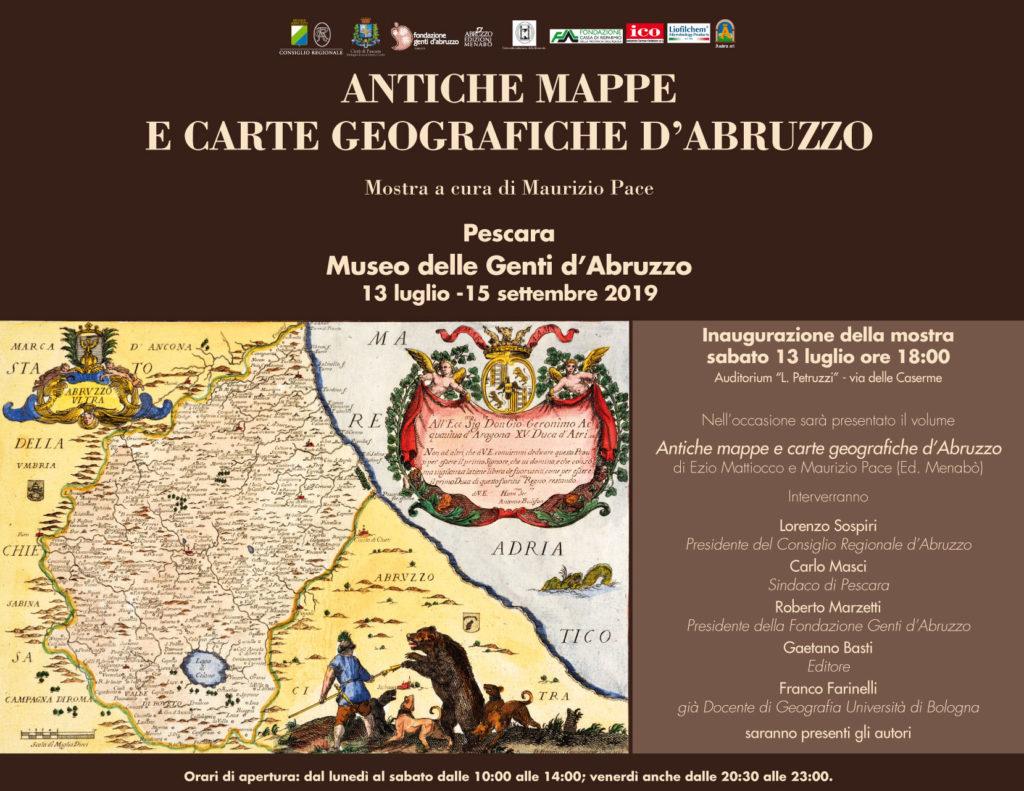 """Pescara. Mostra e presentazione del volume""""Antiche mappe e carte geografiche d'Abruzzo"""" (Ed. Menabò) di Ezio Mattiocco e Maurizio Pace"""