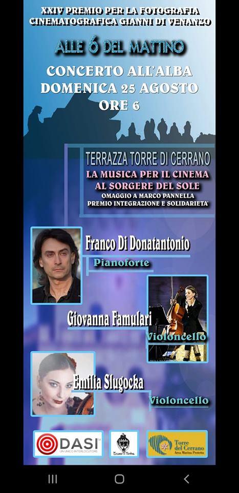 Pineto. Anteprima Premio Di Venanzo: concerto all'alba Torre del Cerrano