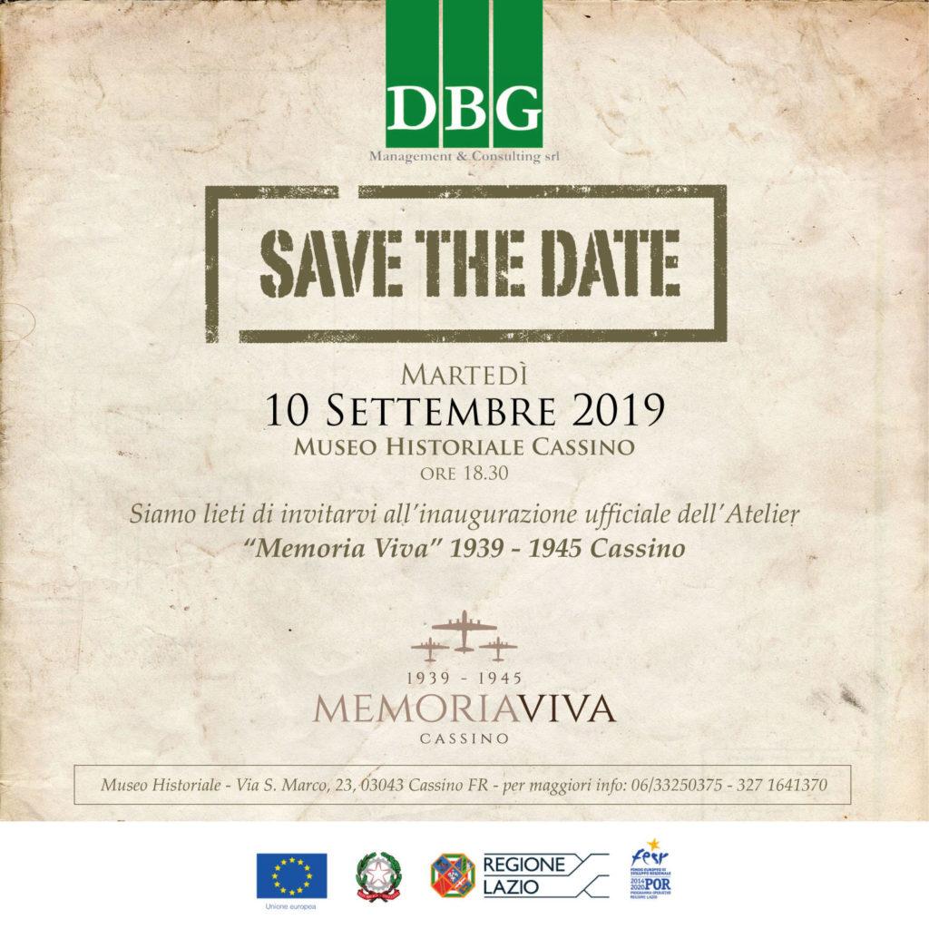 """Cassino. Inaugurazione """"Memoria Viva"""" 1939 – 1945 Cassino, il Museo Historiale in realtà aumentata 10 SETTEMBRE"""