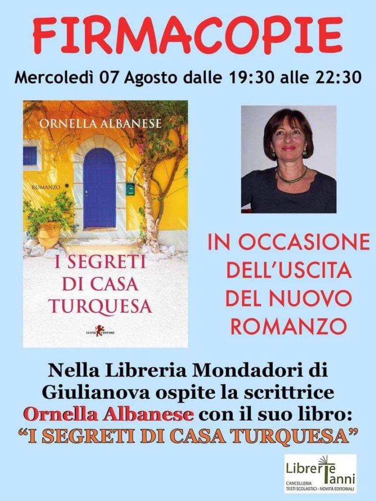 Giulianova. La scrittrice Ornella Albanese ospite della Libreria Mondadori
