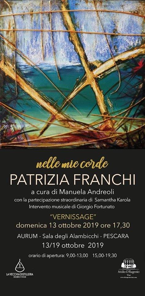 Pescara. Personale dell'artista Patrizia Franchi, Aurum – 13 ottobre, ore 17,30