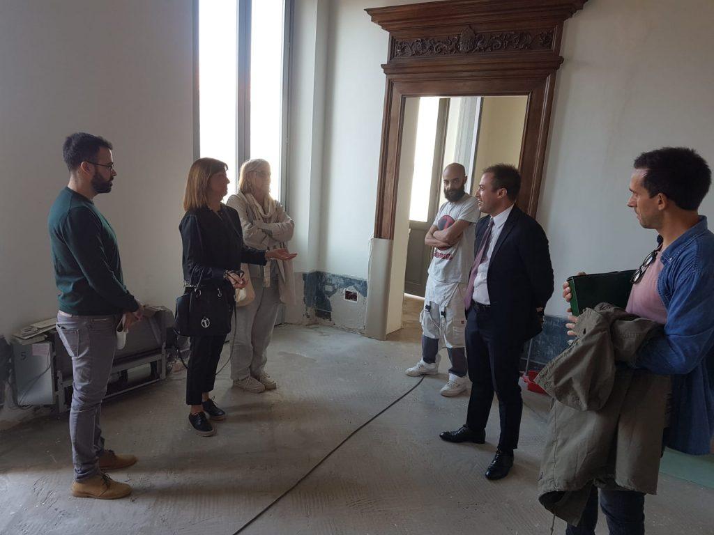 """Giulianova. Pinacoteca civica """"Vincenzo Bindi"""" nel pieno dei lavori di recupero e restauro: stamane nuovo sopralluogo della Soprintendenza"""