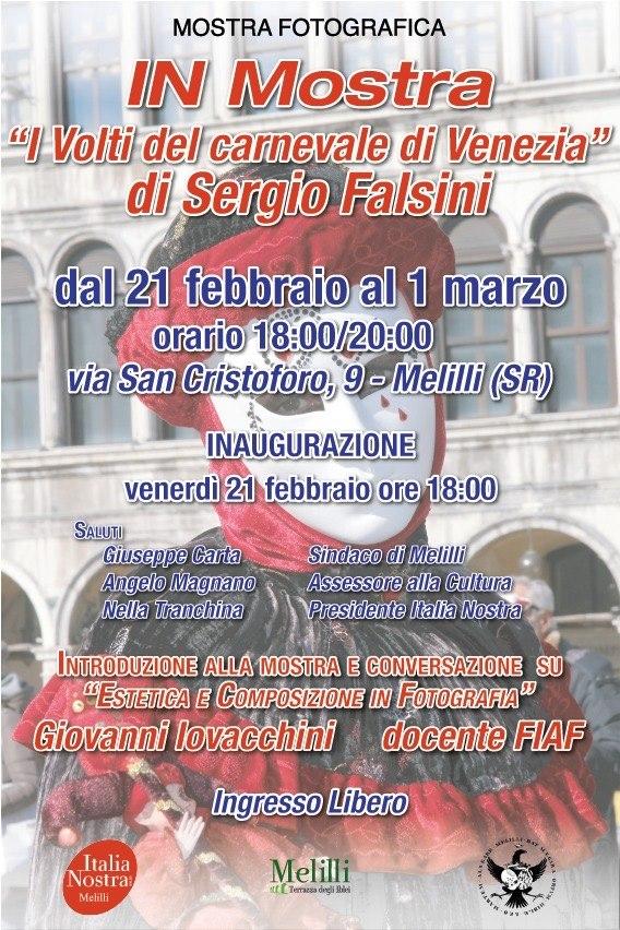 I volti del Carnevale di Venezia: a Melilli una mostra fotografica a cura di Italia Nostra