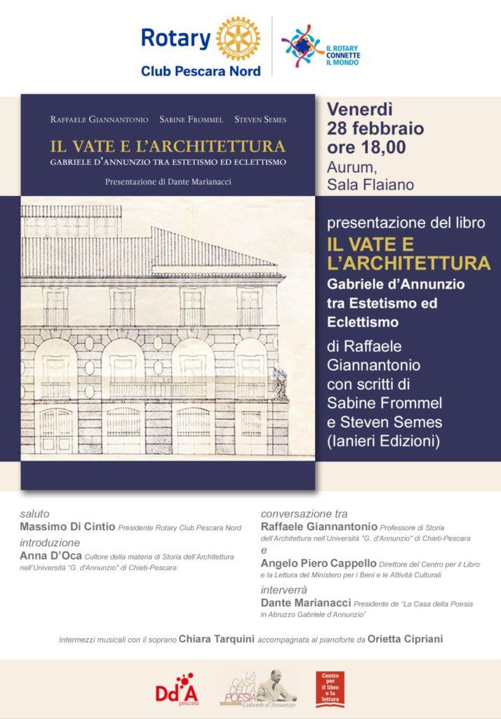 IL VATE E L'ARCHITETTURA di Raffaele Giannantonio   28 Febbraio – Aurum Pescara