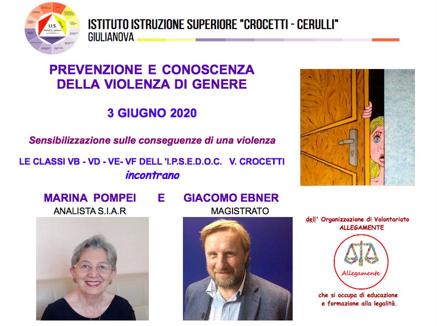 Giulianova. Videoconferenza: prevenzione e conoscenza della violenza di genre