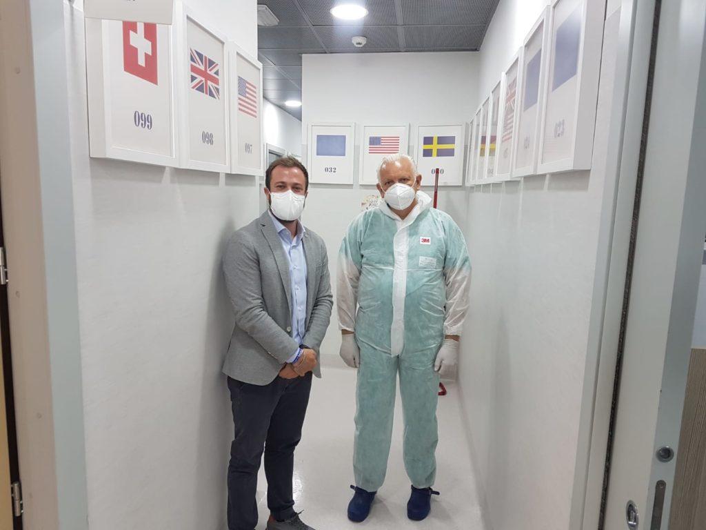Giulianova. Il Sindaco in visita al Centro Diagnostico D'Archivio di Giulianova