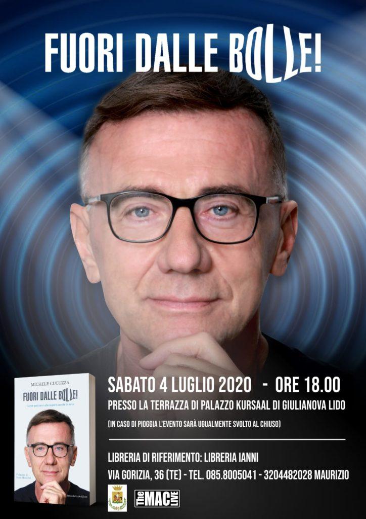 """Il giornalista Michele Cucuzza a Giulianova con il suo nuovo libro """"Fuori dalle bolle!"""""""