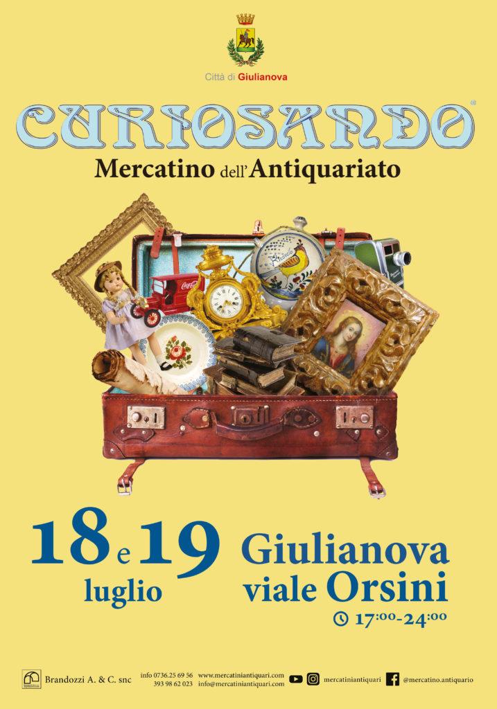 """Giulianova. Torna """"Curiosando"""", mercatino dell'antiquariato e collezionismo"""