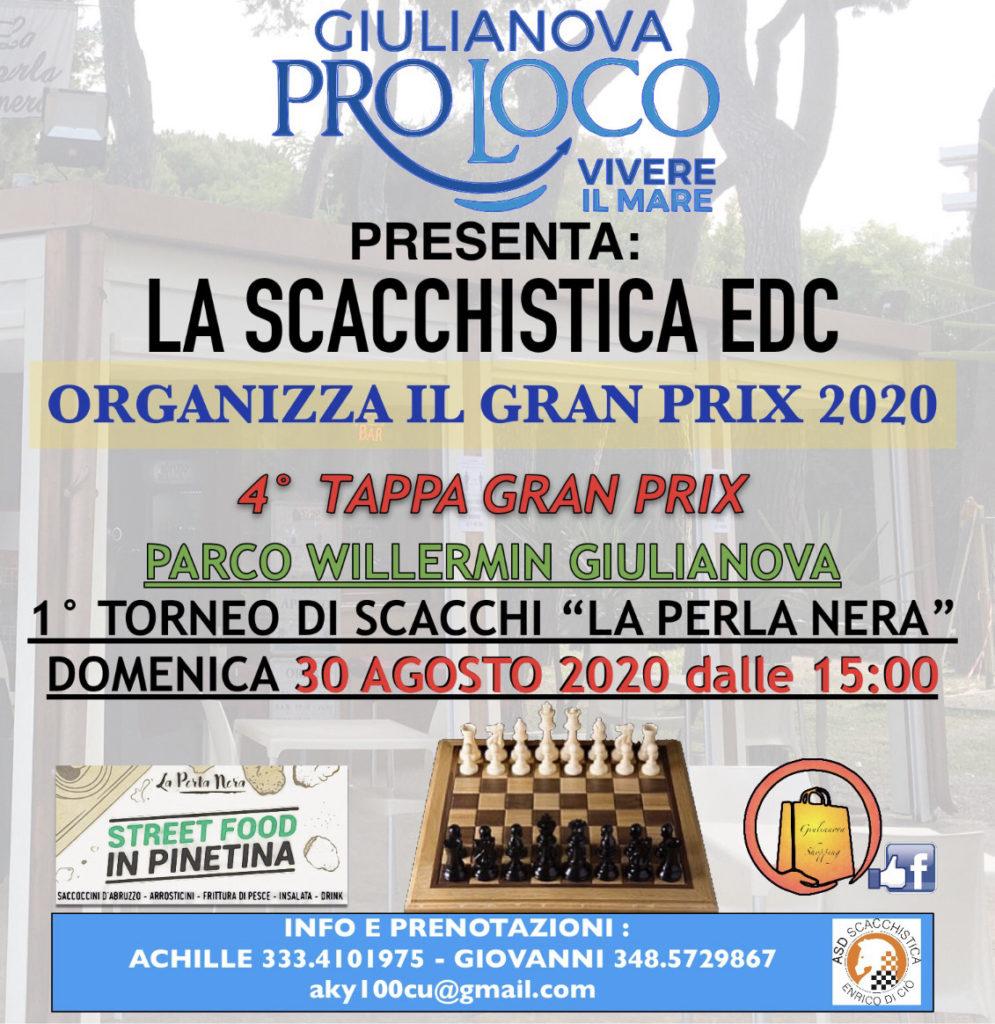 La città di Giulianova ospiteràil 30 Agosto, dalle ore15:00, al Parco Willermin, la quarta tappa del Grand Prix Abruzzo di scacchi.